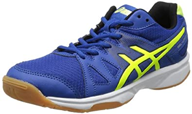 ASICS Men's Gel Upcourt Volley Ball Shoe,Blue/Flash Yellow/Black,9.5 M US