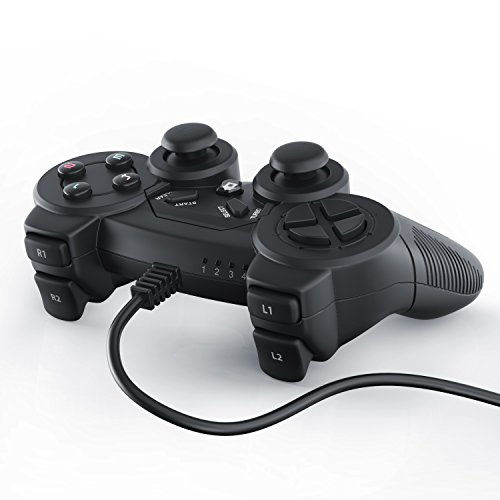 CSL-USB-Gamepad-fr-PC-inkl-Vibration-Modell-2016-Joypad-Controller-Plug-Play-LED-Anzeige-Windows-10-kompatibel