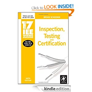 Wiring Regulations on Iee Wiring Regulations  Inspection  Testing And Certification  Iee