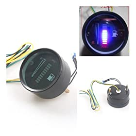 "nihaou00ae New 2 "" 52mm Fuel Meter LED Digital DC12V Fuel Gauge For Car Motorcycle"