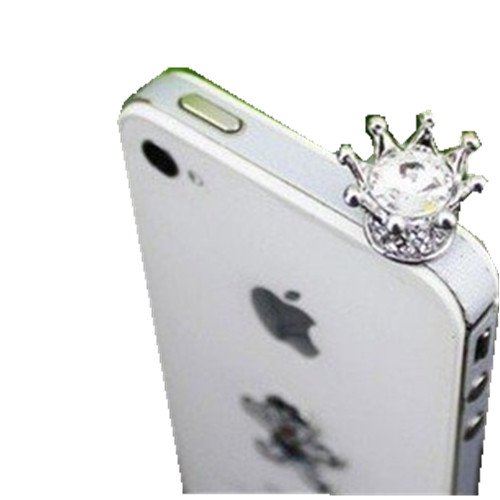 Maivis'S Diary Dust Plug-Earphone Jack Accessories Crystal Queen Crown / Cell Charms / Dust Plug / Ear Jack For Iphone 4 4S / Ipad / Ipod Touch / Other 3.5Mm Ear Jack