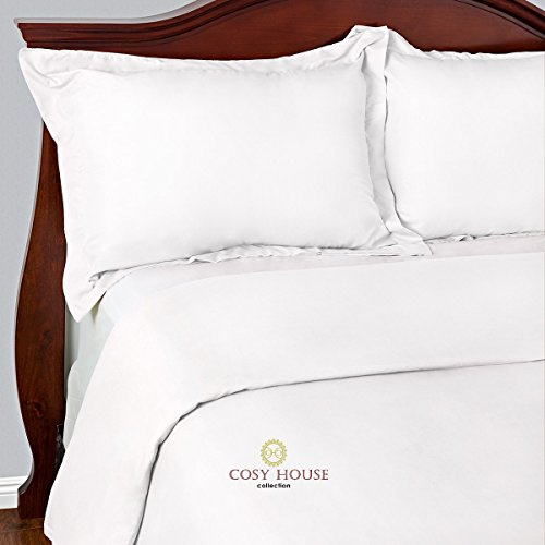 Best Duvet Covers Sets 3 Piece - 100% Microfiber - Most Durable Non-Rip Comforter Covers - Wrinkle-Free and Stain Resistant - Hypoallergenic Bedding Cover by Cosy House (Queen/Full, White) (Hypo Allergenic Comforter Covers compare prices)