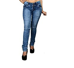 NJ's Women's Denim Slim-fit Jeans (FLI1010-30_Blue)