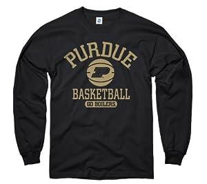 Purdue Boilermakers Black Basically Basketball New Agenda Long Sleeve T-Shirt by New Agenda