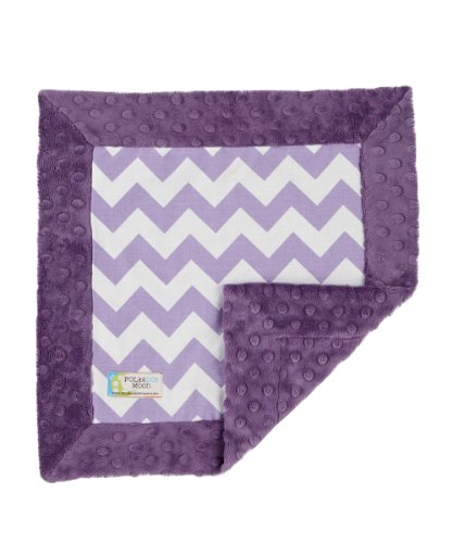 Baby LUXE Lovey/Security Blanket - Purple & White Chevron on Purple - 1