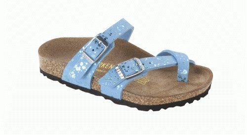 Birkenstock Thong ''Mayari Kids'' from Birko-Flor in Glitter Hologram Blue with a narrow insole сабо birkenstock birkenstock bi536awtac41