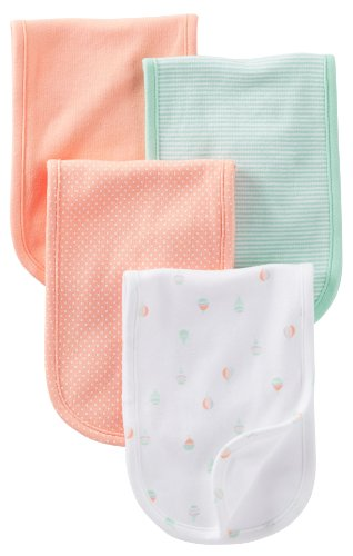 Carter's Burp Cloth - Mint Peach Balloon - 4 ct - 1