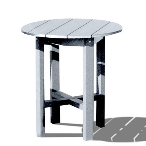 VIFAH V1091-W Recycled Plastic 28-Inch Outdoor Bar Table, White
