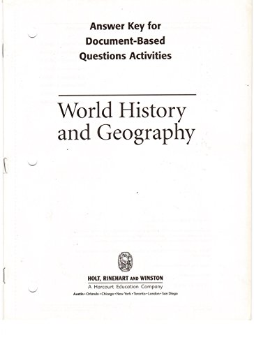 World History and Geography Answer Key for Document-Based Questions Activities 2003