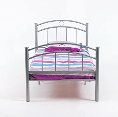 Eastalent 5FT2 Silver Double Metal Bed Frame