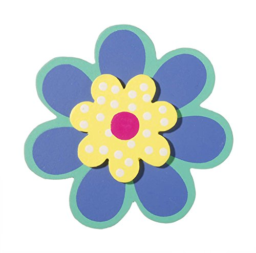 Darice 9189-50 Painted Wood Painted Layered Blossom Shape Cutout, 5mm - 1