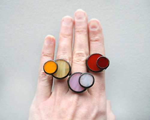 colorful-stained-glass-statement-adjustable-rings-by-artkvarta-art-ideas-bright-rings-ideas-for-her-
