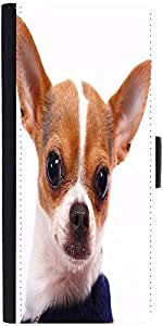 Snoogg Cute Little Chihuahua Wearing A Jumper Designer Protective Phone Flip Case Cover For Vivo V1
