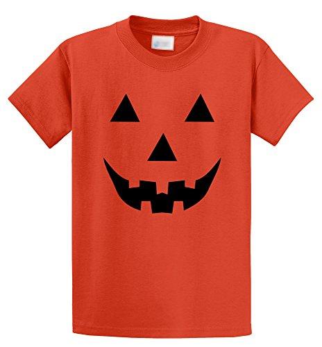 [Comical Shirt Men's Halloween Costume Pumpkin Face Jack O Lantern Shirt Orange 4XL] (Heavyweights Halloween Costume)