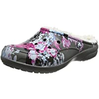 Crocs Women's Freesail Graphic Lined Mule (Floral/Slate Grey)