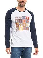 BIG STAR Camiseta Manga Corta Tapfer_Ts_Ls (Blanco / Azul Marino)