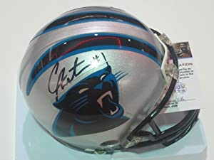 CAM Newton Carolina Panthers Signed Autographed Mini Helmet Authentic Certified COA