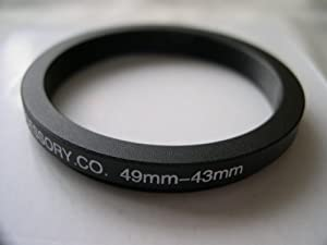 HeavyStar Dedicated Metal Step Down Ring 49-43mm