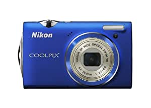 Nikon Coolpix S5100 12 MP Digital Camera with 5x Optical Vibration Reduction (VR) Zoom and 2.7-Inch LCD (Blue)