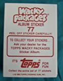 Wacky Packages 77 Album Sticker 1986 Set by Topps