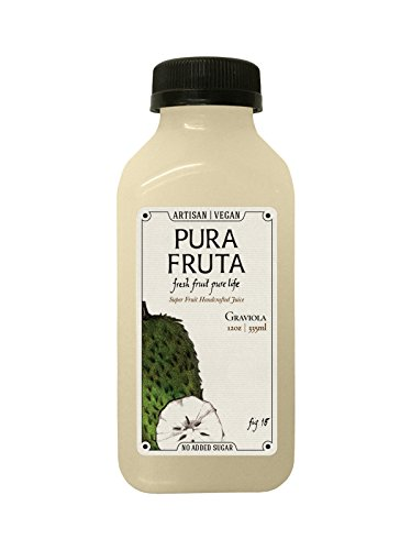 Pura Fruta Cold-Pressed Graviola / Soursop Juice 12oz (Pack of 6) (Soursop Juice compare prices)