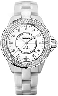 Chanel J12 Diamonds Date Automatic Ceramic Watch H2013