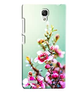 Blue Throat Pink Flower Inspired Hard Plastic Printed Back Cover/Case For Xiaomi Redmi Note Prime
