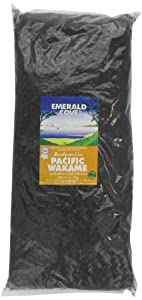 Emerald Cove Silver Grade Ready-to-Use Pacific Wakame (Dried Seaweed), 35-Ounce Bag by Emerald Cove