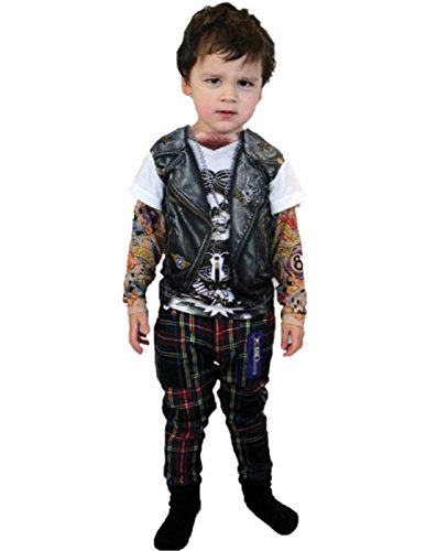 Morris Costumes TATTOO LONG SLEEVE YOUTH, XS