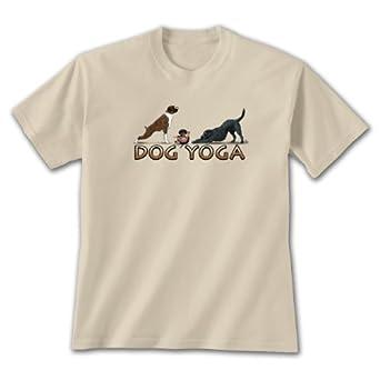 Dog Yoga ~ Sand T-Shirt XX-Large