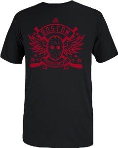 Buy adidas Boston University Terriers Hockey Goalie Mask T-Shirt - Black by adidas