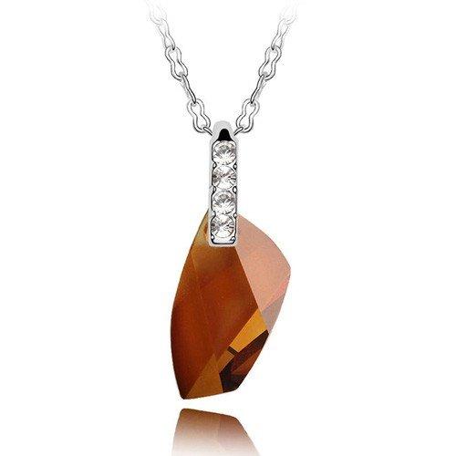 Swarovski Copper Crystal Elements Rhodium Plated Pendant Necklace