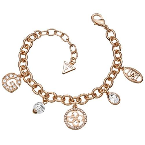 Guess Damen-Armband Metalllegierung rhodiniert Glas weiß 18 cm - UBB51412 thumbnail
