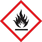 Accuform Signs LZH611PS2 GHS Pictogram Label, FLAME, 2