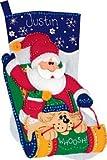 Dimensions Sledding Santa Stocking Felt Applique Kit