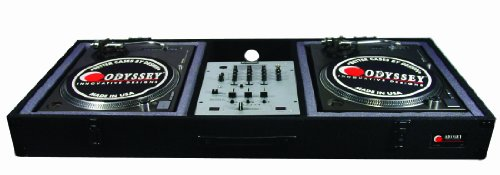 Odyssey Cbm10E Carpeted Dj Coffin For A 10 Mixer And 2 Turntables In Battle Position With Surface Mount Hardware
