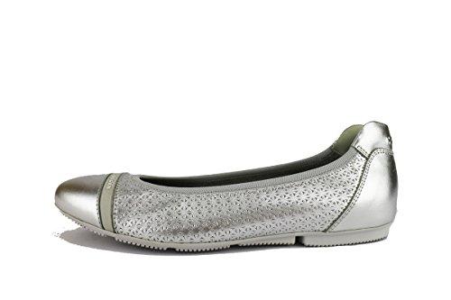 HOGAN ballerine donna pelle argento AH715 (35 EU)