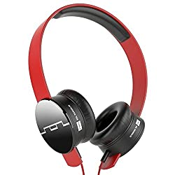 SOL REPUBLIC TRACKS ON-EAR HEADPHONE WITH V8 ENGINE (RED)