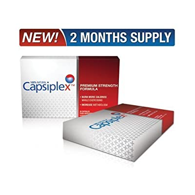 Capsiplex Premium Strength Fat Burner & Natural Diet and Weight Loss Supplement - 60 Capsules by Capsiplex