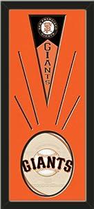 San Francisco Giants Wool Felt Mini Pennant & San francisco Giants Team Logo... by Art and More, Davenport, IA