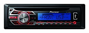 Pioneer RDS Tuner with Illuminated Front USB and Aux-In - Blue