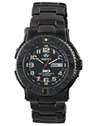 REACTOR Men's 59501 Trident Never Dark Black Dial Black Nitride-Plated Sport Watch