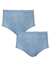 2 Pack Pure Cotton Cellular Briefs