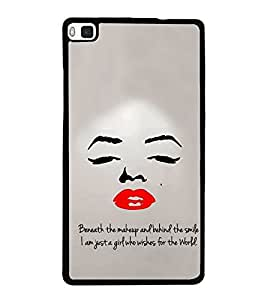 Famous Hollywood Personality 2D Hard Polycarbonate Designer Back Case Cover for Huawei P8