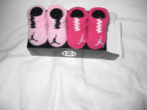 Nike Air Jordan Jumpman 23 Booties Socks Crib Shoes 0-6m Baby Gift Set Baby Socks