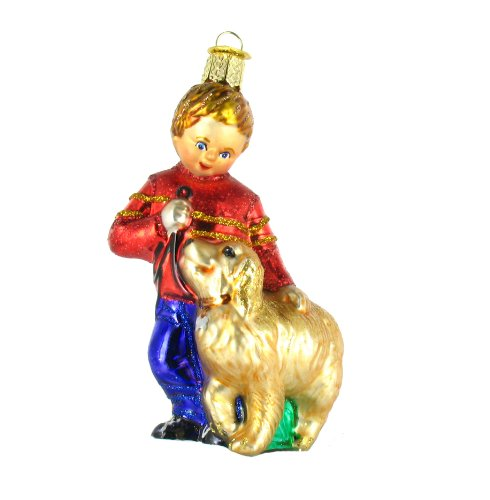 Old World Christmas Glass Ornament – Boy With Dog