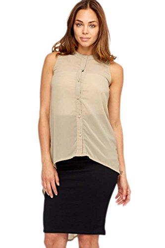 lace-insert-khaki-dip-hem-blouse