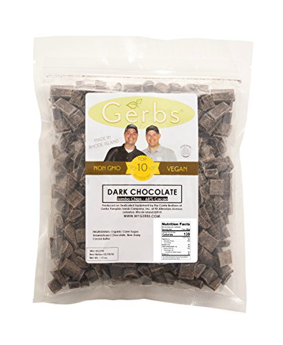 Jumbo Dark Chocolate Chips (68% Cacao) by Gerbs - 4 LBS - Top 11 Food Allergen Free & NON GMO - Product of Canada - Vegan & Kosher (Chocolate Chips Gourmet compare prices)