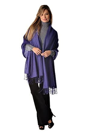 Pure Cashmere Shawl (Black) at Amazon Women's Clothing store ...