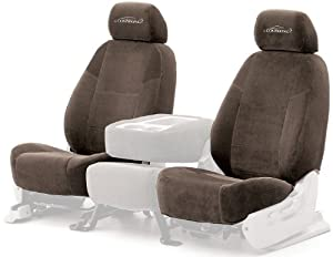 Coverking Custom Fit Front 50/50 Bucket Seat Cover for Select Pontiac Montana Models - Velour (Taupe)